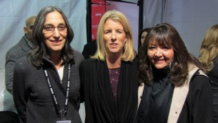 Composer Miriam Cutler, director Rory Kennedy, and BMI's Doreen Ringer Ross celebrate the premiere of Ethel. (Photo by Scott Holtzman). sundance 2012 2